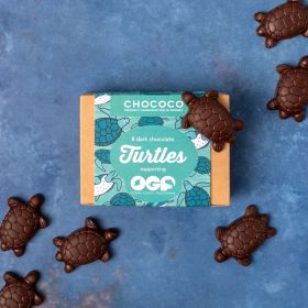Dark chocolate novelty turtles for OGP by Chococo