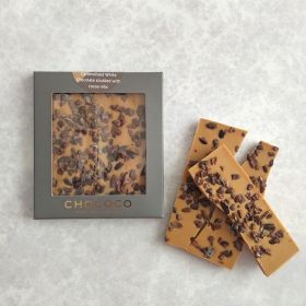 Gold' Caramelised White Chocolate & Cocoa Nibs Mini Bar