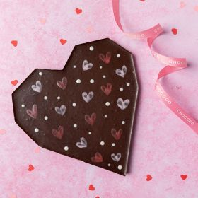 Large 'To the Moon & Back' Dark Chocolate Heart (vegan-friendly)
