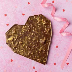Large Honeycombe-studded Milk chocolate Heart