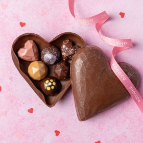 Valentine Chocolate Heart Box filled with fresh chocolates