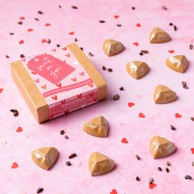 'Sweet on You' box of Gold Chocolate Hearts