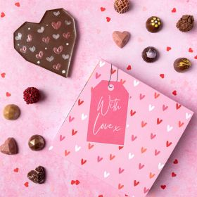 Fresh Large Valentine Selection Box & your choice of Heart