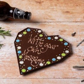 A Chococo Dark Chocolate giant bar with personalised message proudly handmade in Dorset