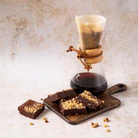 Coffee & walnut postal brownie by Chococo