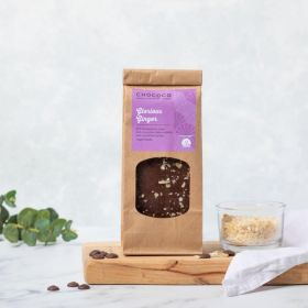 Dark Chocolate Glorious Ginger Slabs which are vegan-friendly handcrafted by Chococo