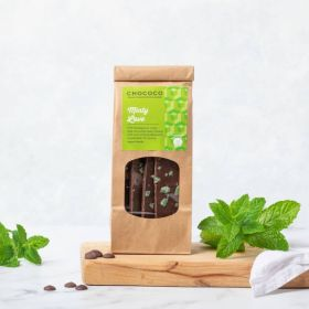 Dark Chocolate Mintylicious Slabs which are vegan-friendly hand crafted by Chococo