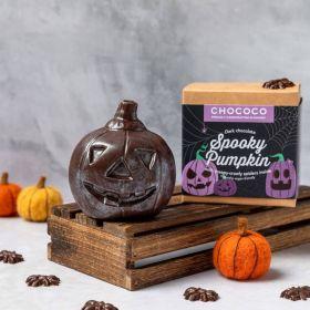 Dark Chocolate pumpkin novelty shape by Chococo