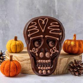Rosa the dark chocolate Halloween skull bar