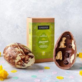 Giant Milk Chocolate Dinosaur Studded Easter Egg