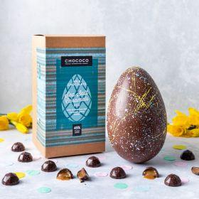 45% Milk Chocolate Easter Egg with Dorset Sea Salt Caramel gems inside