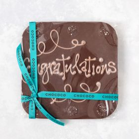 Congratulations' giant dark chocolate bar