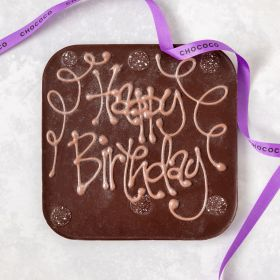 Happy Birthday' giant dark chocolate bar (& vegan-friendly)