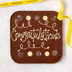 Congratulations' giant milk chocolate bar