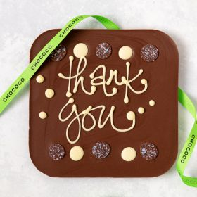 """Thank You"" giant milk chocolate bar"