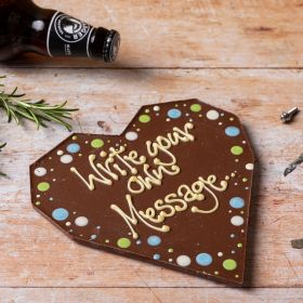 A Chococo Milk Chocolate giant bar with personalised message proudly handmade in Dorset