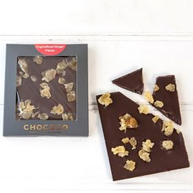 Dark Chocolate & Crystallised Ginger Mini Bar (& vegan-friendly)