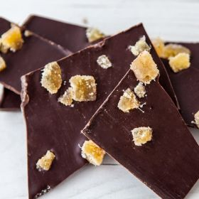 Dark Chocolate Glorious Ginger Slabs (vegan-friendly)
