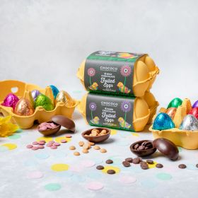 Box of Six Milk Chocolate Foiled Easter Eggs