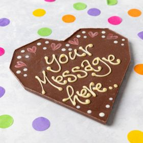 Personalised Milk Chocolate Love Heart