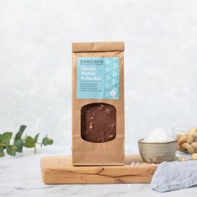 Milk Chocolate Toasted Cashew & Sea Salt Slabs by Chococo handcrafted in Dorset