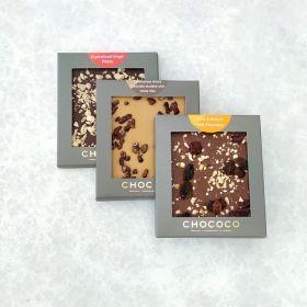 Set of 3 Assorted Studded Chocolate Mini Bars