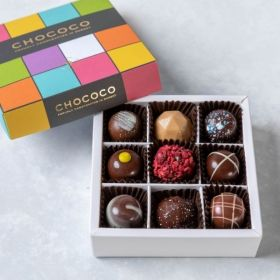 Small selection of handcrafted chocolates