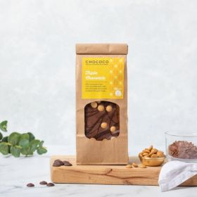 Triple chocolate milk, gold and dark slabs by Chococo