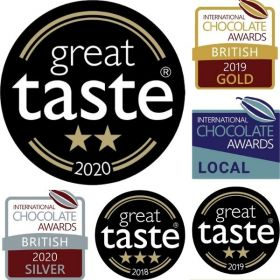 A Chococo chocolate box with 25 fresh chocolates proudly handcrafted in Dorset