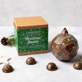 Vegan 'Milc' Chocolate Cashew Bauble with gems inside
