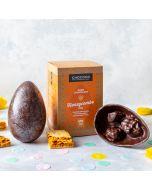 Dark Chocolate Honeycombe Studded Easter Egg (vegan-friendly)