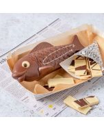 milk chocolate novelty fish & chips by chococo handcrafted in DOrset
