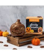 Milk chocolate novelty pumpkin shape by Chococo with mini spiders