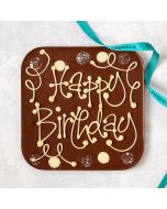 """Happy Birthday"" giant milk chocolate bar"