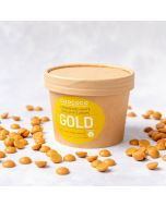 Gold Caramel White Chocolate Button Drops handmade by Chococo in Dorset in Brown Craft Plastic free packaging