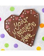 Personalised Milk Chocolate Heart