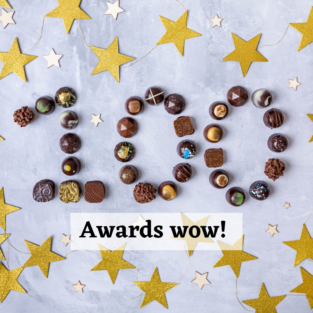 Our chocolates are officially delicious - we have now won 100 fine food awards!