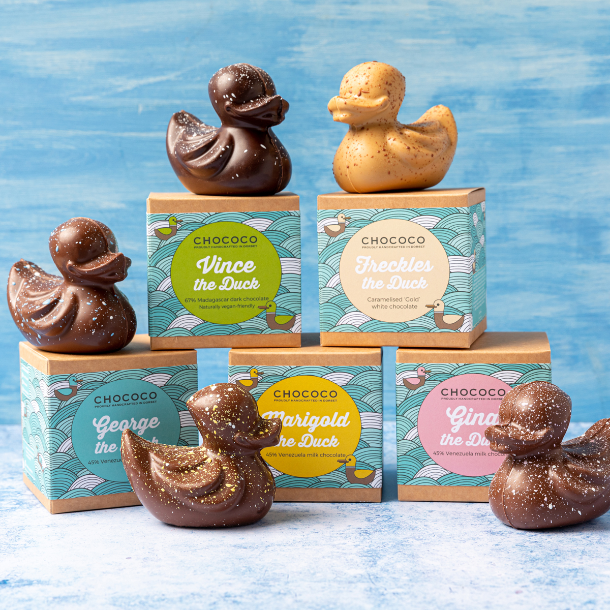 Meet our new look Ducks & Drops, now in 100% recyclable, plastic-free packaging