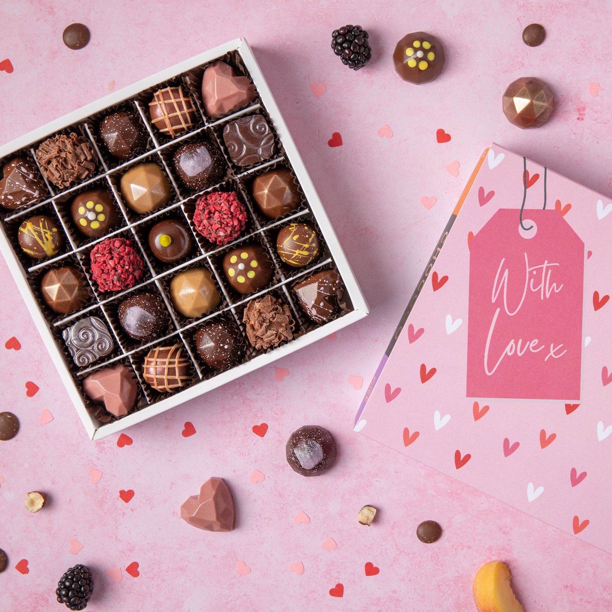 Our Valentine Selection Boxes to share are 'high end' according to delicious magazine