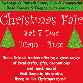Save the date for the annual Swanage Christmas Fair
