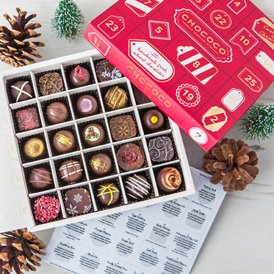 Our Chococo Advent Selection Box is featured in the Evening Standard's review of the 10 best luxury advent calendars for 2016