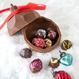 Have you seen our new Fill Your Own Baubles in our Chocolate Houses?