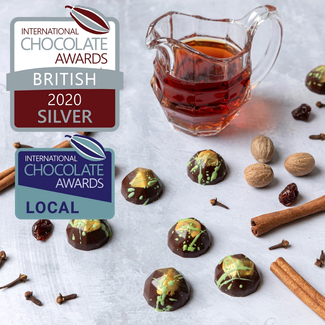 Our Spiced Rum chocolate wins TWO 2020 International Chocolate Awards