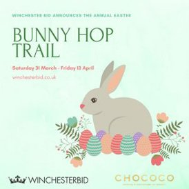 We are delighted to support the Winchester Bunny Hop Trail again which starts today!