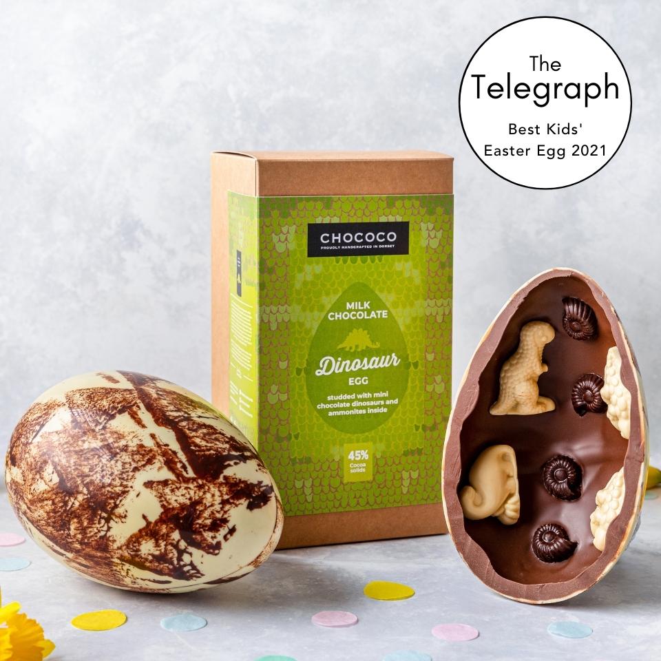 The Telegraph award our Giant Dinosaur Easter Egg 5/5 in their Taste Test