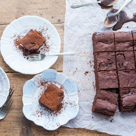 A festive Gingerbread Caramel Brownie recipe by co-founder Claire to make at home this lockdown Christmas