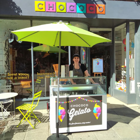 We are ready for the Winchester Hat Fair with an outdoor Gelato station!