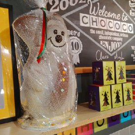 Chococo giant 3kg chocolate snowmen now on sale & available to order for collection from our shops