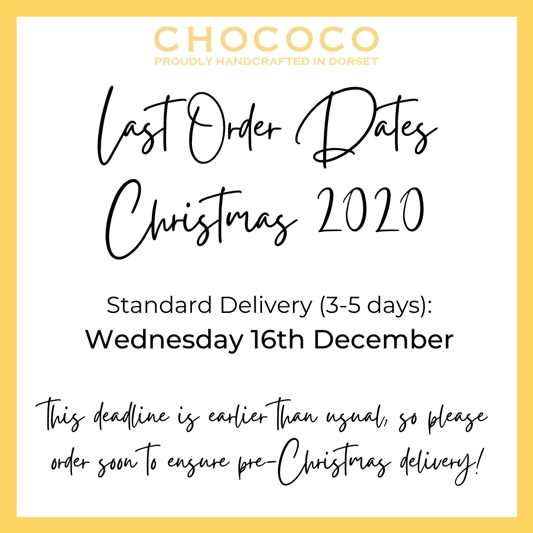 Our final order date for Standard Delivery is 16th December
