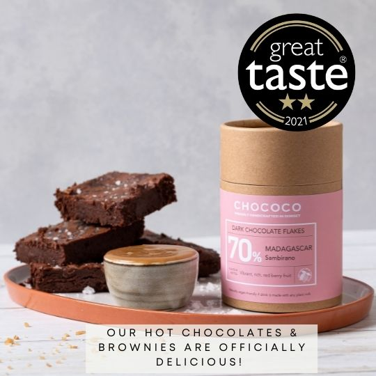 Award winning hot chocolate flakes